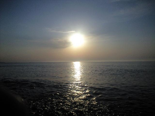 増毛の夕陽