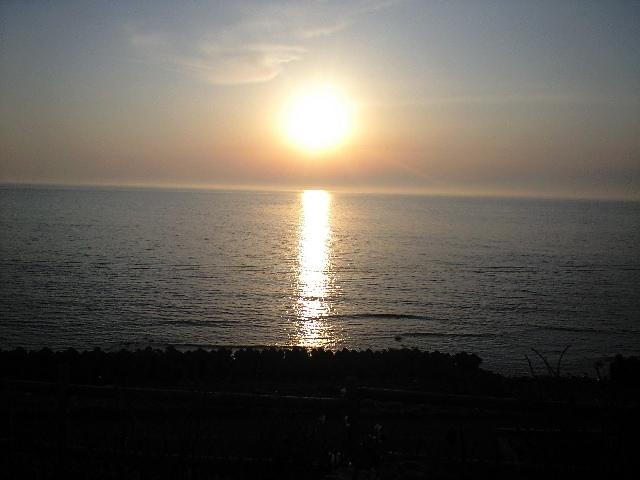 増毛の夕陽2