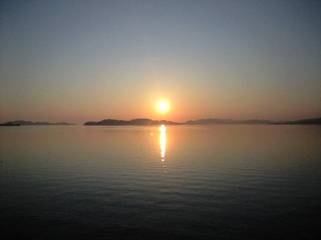 上関の夕陽