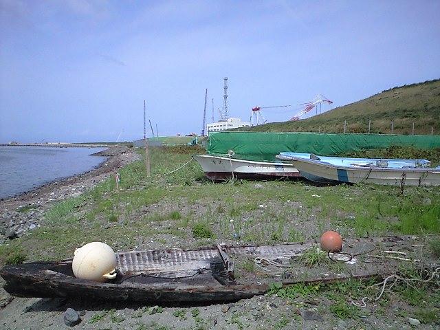 朽ちた舟と原発