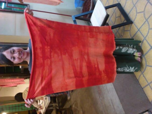 オーダーメードヘンプコットンラップスカート作りました◎