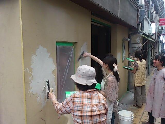 土壁塗り@冨貴工房