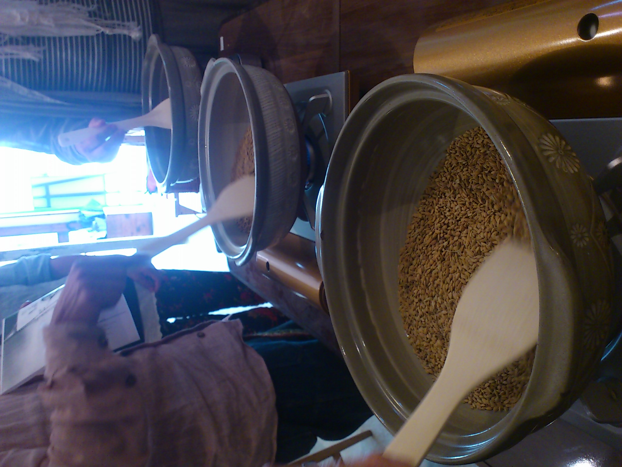 もみ付黒焼玄米作り&食事養生の話@弥五郎ドーナツ