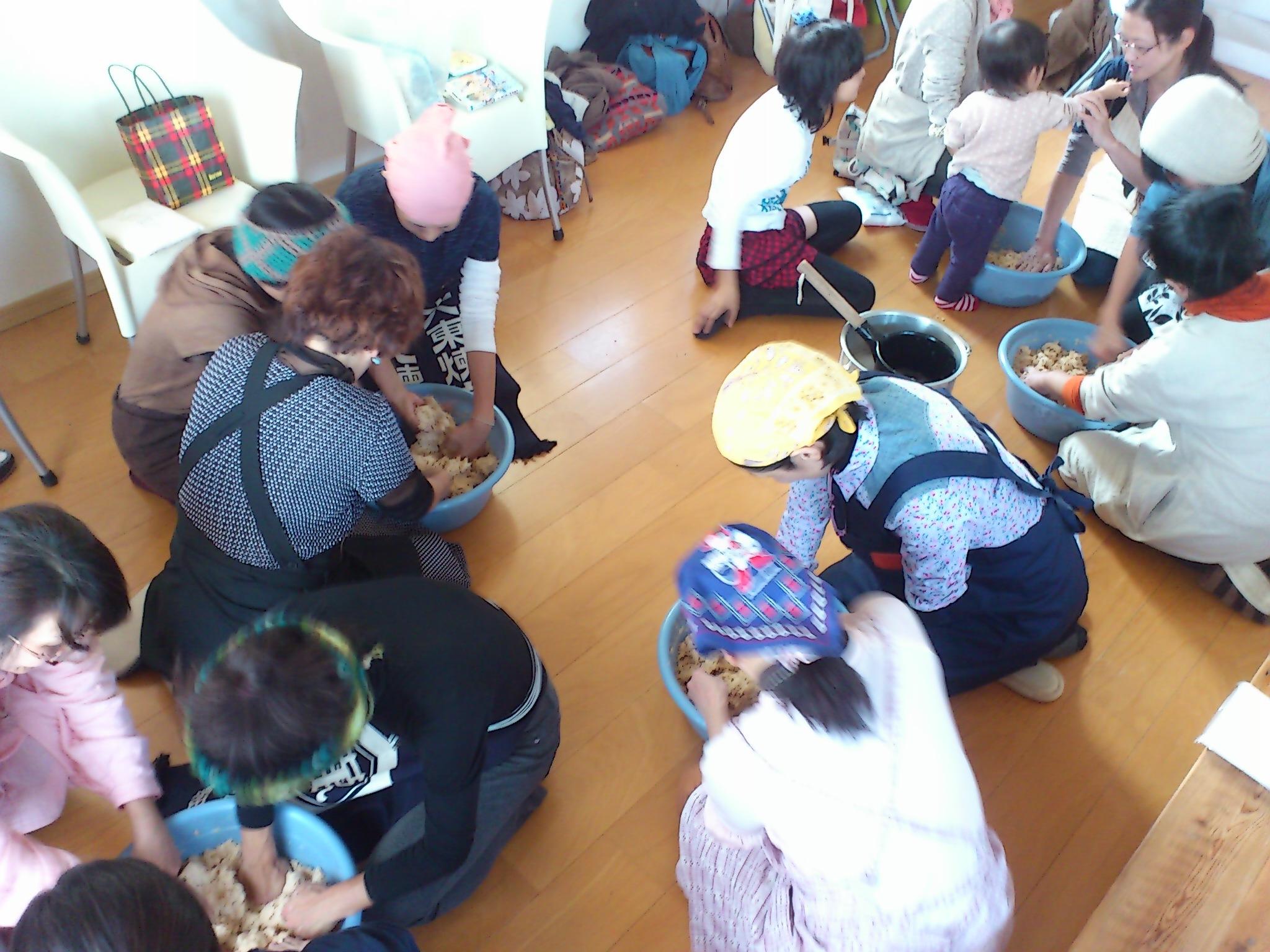自給自足を始める座談会&味噌作りワークショップ@茅ヶ崎アロマココロ。