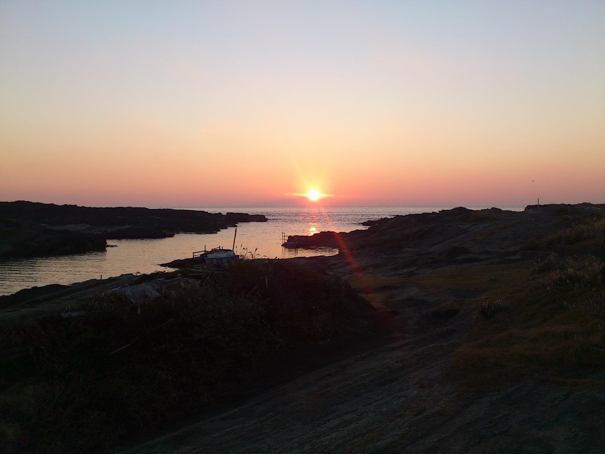 @城ヶ島。夕陽が美しすぎるのでもう一枚◎