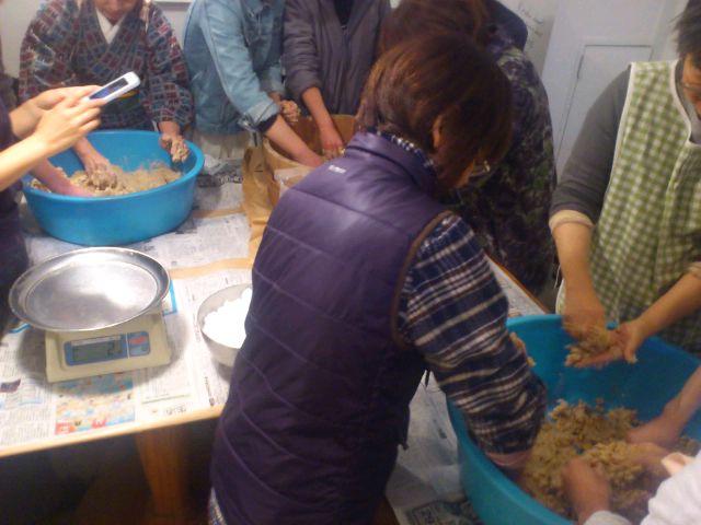 名古屋市池下のサロン・ド・アルエットゥで味噌作り。ケーキ屋さんが味噌を自給する時代♪