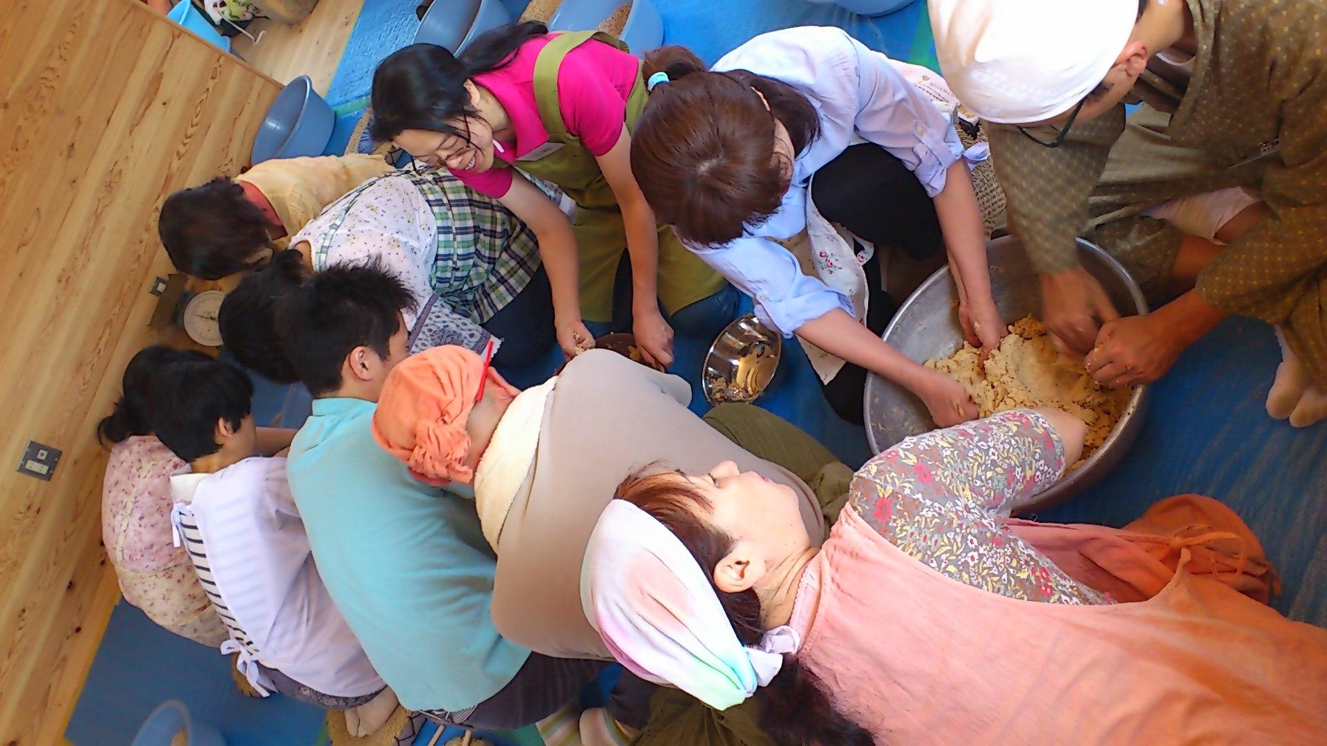 津久井在来大豆の味噌作り@国産材工房稲葉屋